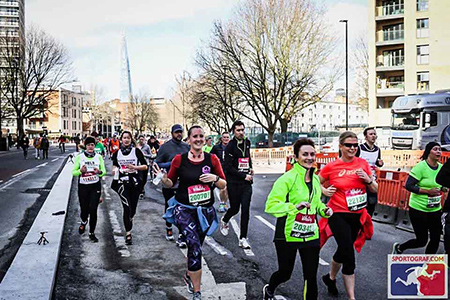 Motivating Myself running in London at the Vitality Half waas easier than running in lockdown. My Not So Secret Diary blog