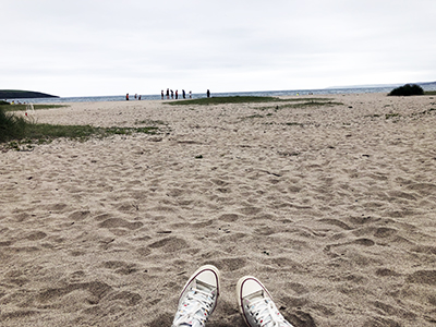 Overthinking Things sitting on the beach watching my son at running training Blog - My Not So Secret Diary by Claire Hatwell